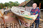 Local boatman John B Lyne sees the boat his mothers uncle Johnny Hurley rowed Queen Victoria in when she visited Killarney