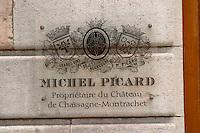 dom m picard chateau de ch-m chassagne-montrachet cote de beaune burgundy france