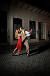 "BUENOS AIRES - FEBRUARY 11: A couple tango on a street in Buenos Aires, Argentina on February 11, 2009.  In 2009 the tango was declared part of the world's ""intangible cultural heritage"" by UNESCO."