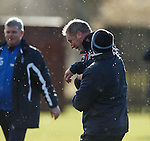 Kenny McDowall lands one on Ally McCoist's chin during training for a laugh
