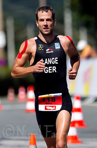 15 AUG 2010 - KITZBUEHEL, AUT - Moritz Lange - 2010 European Police Triathlon Championships (PHOTO (C) NIGEL FARROW)