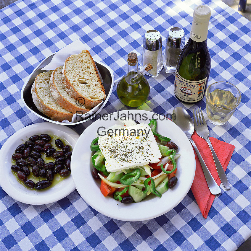 Greece, Typical Greek Meal | Griechenland, typisch griechisches Essen