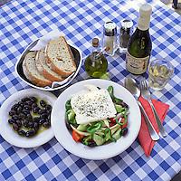 Greece, Typical Greek Meal   Griechenland, typisch griechisches Essen