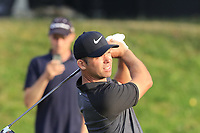 Paul Casey (ENG) tees off the 18th tee during Saturday's Round 3 of the Porsche European Open 2018 held at Green Eagle Golf Courses, Hamburg Germany. 28th July 2018.<br /> Picture: Eoin Clarke | Golffile<br /> <br /> <br /> All photos usage must carry mandatory copyright credit (&copy; Golffile | Eoin Clarke)