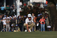 Micah Lauren Shin (USA) on the 18th green during Round 4 of the UBS Hong Kong Open, at Hong Kong golf club, Fanling, Hong Kong. 26/11/2017<br /> Picture: Golffile | Thos Caffrey<br /> <br /> <br /> All photo usage must carry mandatory copyright credit     (&copy; Golffile | Thos Caffrey)