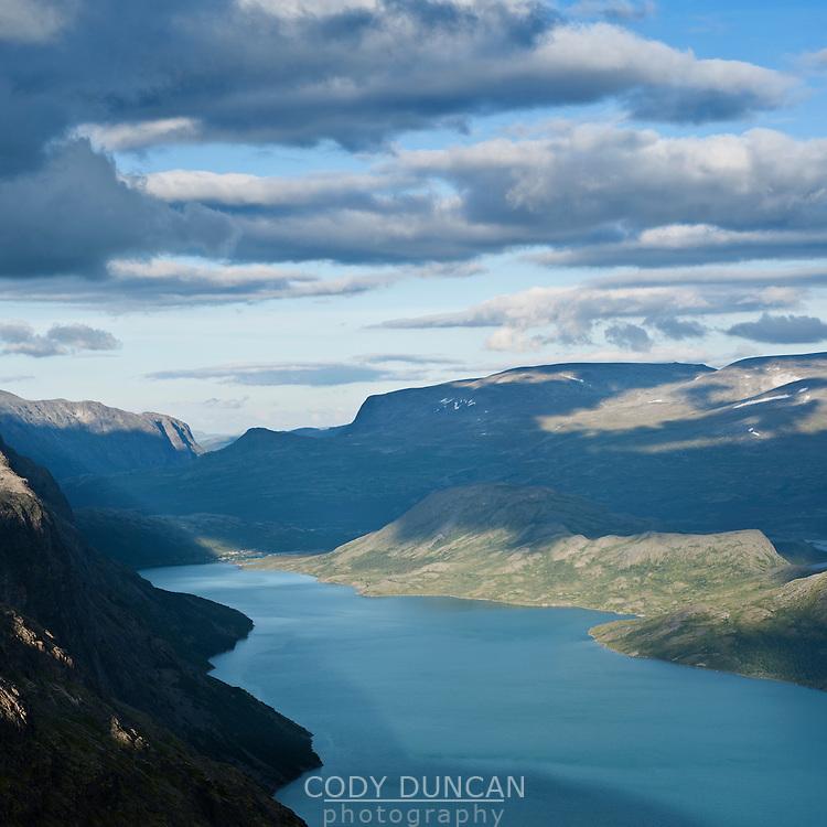 Lake Gjende viewed from Besseggen ridge, Jotunheimen national park, Norway