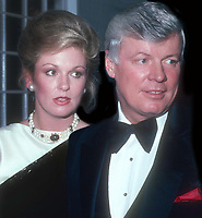 Phyllis George and John Brown 1982<br /> <br /> CAP/MPI/PHL/JB<br /> ©JB/PHL/MPI/Capital Pictures