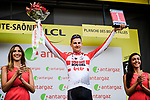 Tim Wellens (BEL) Lotto-Soudal retains the mountains Polka Dot Jersey and wins the day's combativity prize at the end of Stage 6 of the 2019 Tour de France running 160.5km from Mulhouse to La Planche des Belles Filles, France. 11th July 2019.<br /> Picture: ASO/Pauline Ballet | Cyclefile<br /> All photos usage must carry mandatory copyright credit (© Cyclefile | ASO/Pauline Ballet)