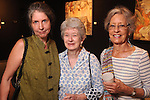 From left: Louise Schlachter, Jo Ann Owens and Helen Sprohge at the art openings of Carter Ernst, Ken Mazzu and Pat Johnson  at the Art Car Museum Saturday June 29, 2013.(Dave Rossman photo)
