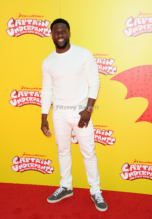 Kevin Hart arriving at the Los Angeles premiere of Captain Underpants, held at the Regency Village Theater in Westwood California on May 21, 2017
