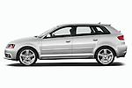 Driver side profile view of a 2003 - 2012 Audi A3 Premium Sportback Hatchback.