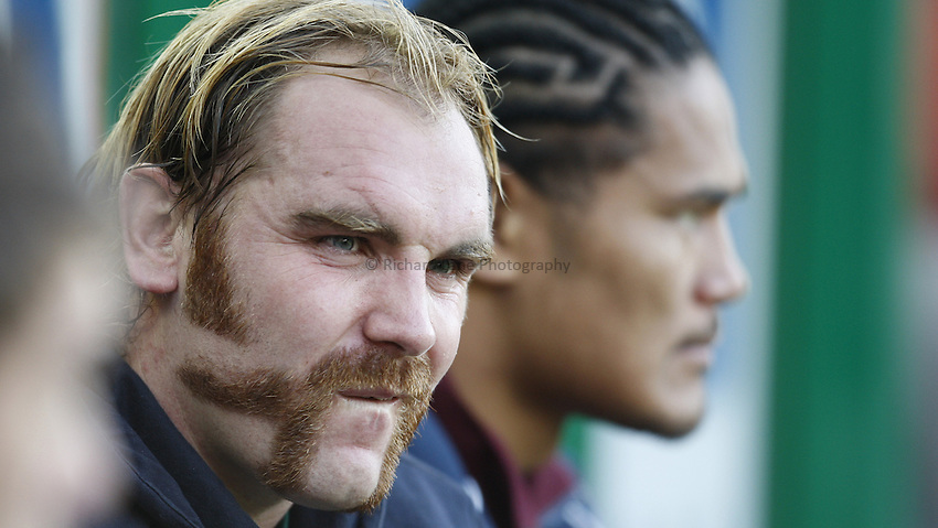 Photo: Richard Lane/Richard Lane Photography..Leicester Tigers v Cardiff Blues. EDF Energy Cup. 03/11/2007. .Tigers' Andy Goode with his moustache.