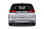 Straight rear view of a 2018 Chrysler Pacifica LX 5 Door Mini Van stock images