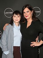 WEST HOLLYWOOD, CA - JANUARY 9: Emily Skeggs, Marcia Gay Harden, at the Lifetime Winter Movies Mixer at Studio 4 at The Andaz Hotel in West Hollywood, California on January 9, 2019. Credit:Faye Sadou/MediaPunch