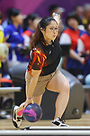 Misaki Mukotani (JPN), <br /> AUGUST 22, 2018 - Bowling : <br /> Women's Trios Block 1 <br /> at Jakabaring Sport Center Bowling Center <br /> during the 2018 Jakarta Palembang Asian Games <br /> in Palembang, Indonesia. <br /> (Photo by Yohei Osada/AFLO SPORT)