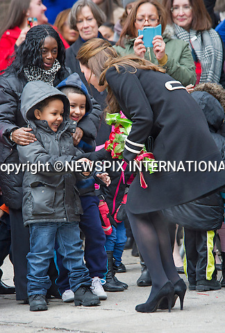 08.12.2014; New York, USA: KATE MIDDLETON<br /> visits Northside Center for Child Developement in Harlem,where she helped volunteers in gift-wrapping Christmas present.<br /> She also viewed students undertake a craft- making exercise.<br /> The Duchess was accompanied by the First Lady of New York, Chirlane_McCray.<br /> Mandatory Photo Credit: &copy;Dias/NEWSPIX INTERNATIONAL<br /> <br /> **ALL FEES PAYABLE TO: &quot;NEWSPIX INTERNATIONAL&quot;**<br /> <br /> PHOTO CREDIT MANDATORY!!: NEWSPIX INTERNATIONAL(Failure to credit will incur a surcharge of 100% of reproduction fees)<br /> <br /> IMMEDIATE CONFIRMATION OF USAGE REQUIRED:<br /> Newspix International, 31 Chinnery Hill, Bishop's Stortford, ENGLAND CM23 3PS<br /> Tel:+441279 324672  ; Fax: +441279656877<br /> Mobile:  0777568 1153<br /> e-mail: info@newspixinternational.co.uk