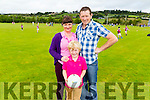 Pictured in Knocknagoshel on Sunday for the annual Harvest festival Simon Keane Memorial sports day was L-R: Sheila, Liam and Seanie O'Sullivan, Brosna.