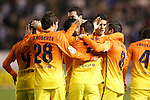 FC Barcelona's players celebrate goal during Spanish King's Cup match.October 30,2012. (ALTERPHOTOS/Acero)