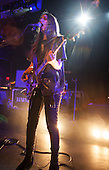 HAIM - vocalistg and guitarist Danielle Haim - performing live on the first night of their UK Tour at the Rock City in Nottingham UK - 04 Mar 2014.  Photo credit: Tony Woolliscroft/IconicPix
