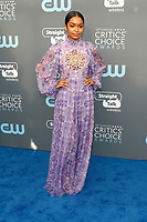 Yara Shahidi attends the 23rd Annual Critics' Choice Awards at Barker Hangar in Santa Monica, Los Angeles, USA, on 11 January 2018. - NO WIRE SERVICE - Photo: Hubert Boesl/dpa /MediaPunch ***FOR USA ONLY***