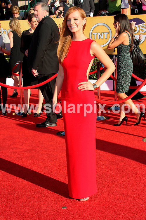 **ALL ROUND PICTURES FROM SOLARPIX.COM**                                             **SYNDICATION RIGHTS FOR UK, AUSTRALIA, DENMARK, PORTUGAL, S. AFRICA, SPAIN & DUBAI (U.A.E) & ASIA (EXCLUDING JAPAN) ONLY**                                                                                  Arrivals for the 18th Annual Screen Actors Guild Awards at the Shrine Auditorium in Los Angeles, CA, USA                                                                This pic:  Ahna O'Reilly     .JOB REF:   14399    PHZ  Evans    DATE: 29.01.12                                                           **MUST CREDIT SOLARPIX.COM OR DOUBLE FEE WILL BE CHARGED**                                                                      **MUST AGREE FEE BEFORE ONLINE USAGE**                               **CALL US ON: +34 952 811 768 or LOW RATE FROM UK 0844 617 7637**