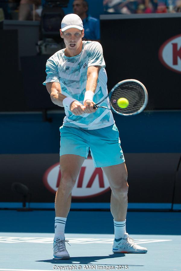 Tomas Berdych (CZE)<br /> <br /> Tennis - Australian Open 2015 - Grand Slam -  Melbourne Park - Melbourne - Victoria - Australia  - 23 January 2015. <br /> &copy; AMN IMAGES