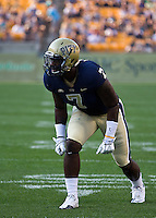 Pitt outside linebacker Brandon Lindsey. The Pittsburgh Panthers beat the Buffalo Bulls 35-16 at Heinz field in Pittsburgh, Pennsylvania on September 3, 2011