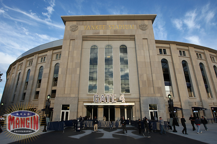 NEW YORK - OCTOBER 25:  Overall exterior view of Yankee Stadium before Game 6 of the American League Championship Series between the Los Angeles Angels of Anaheim and the New York Yankees at Yankee Stadium in the Bronx, New York on October 25, 2009. The Yankees won 5-2 and clinched the American League pennant. Photo by Brad Mangin