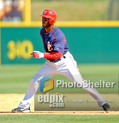 15 March 2006: Damian Jackson, infielder for the Washington Nationals, runs the bases during a Spring Training game against the New York Mets. The Mets defeated the Nationals 8-5 at Space Coast Stadium, in Viera, Florida...Mandatory Photo Credit: Ed Wolfstein..