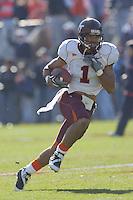 19 November 2005: Victor Macho Harris (1)..The Virginia Tech Hokies defeated the Virginia Cavaliers 52-14 for the Commonwealth Cup at Scott Stadium in Charlottesville, VA.