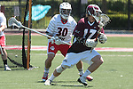 Orange, CA 05/01/10 - Spencer Halvorsen (Chapman # 30) and Magnus Karlsson (LMU # 17) in action during the LMU-Chapman MCLA SLC semi-final game in Wilson Field at Chapman University.  Chapman advanced to the final by defeating LMU 19-10.