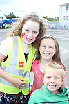 Orlaith McEntee, Evie Martin and Tadhg Martin at the Garda Station Open Day...Picture Jenny Matthews/Newsfile.ie