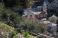 Europe/France/Corse/2B/Haute-Corse/Cap Corse/Nonza: Depuis la tour de Nonza (1760), le village et l'église
