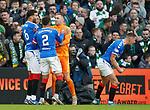 29.12.2019 Celtic v Rangers: Allan McGregor congratulated on his penalty save