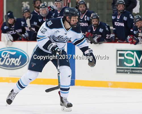 Chase Pearson (Maine - 12) - The University of Maine Black Bears defeated the University of Connecticut Huskies 4-0 at Fenway Park on Saturday, January 14, 2017, in Boston, Massachusetts.