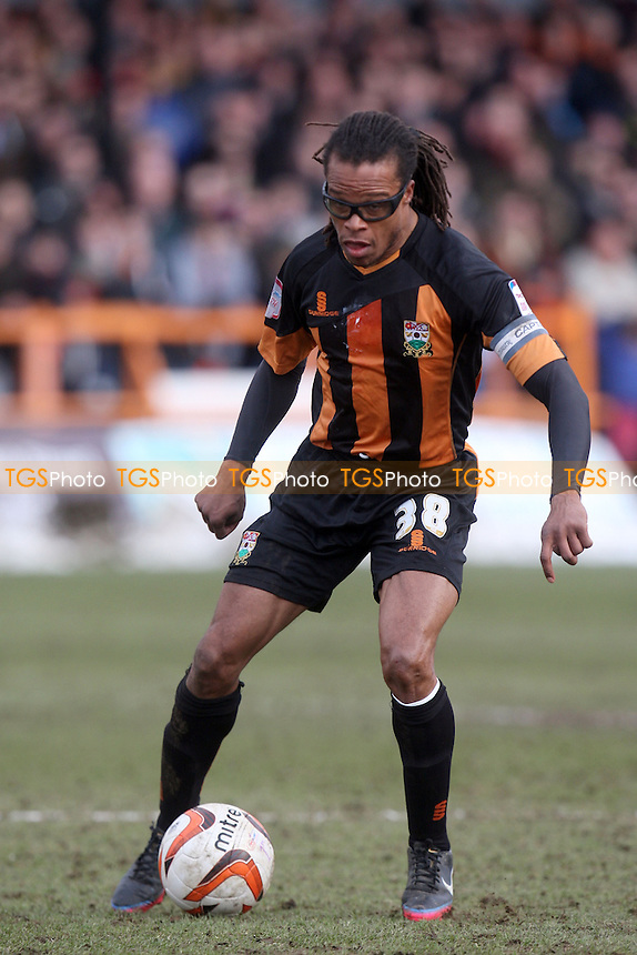 Edgar Davids of Barnet - Barnet vs Dagenham and Redbridge at the Underhill Stadium - 29/03/13 - MANDATORY CREDIT: Dave Simpson/TGSPHOTO - Self billing applies where appropriate - 0845 094 6026 - contact@tgsphoto.co.uk - NO UNPAID USE.