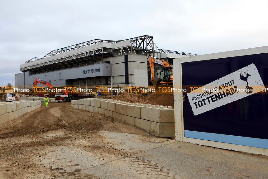 Work has already started on Spurs new stadium redevelopment during Tottenham Hotspur FC Ground Redevelopment at White Hart Lane, London, England on 10/11/2015