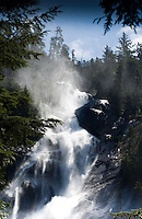 Shannon water falls, close to Squamish. North Vancouver, British Columbia, Canada.