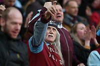 A Villa supporter celebrate after they scored during Aston Villa vs Manchester City, Caraboa Cup Final Football at Wembley Stadium on 1st March 2020