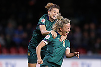 Martina Rosucci of Italy celebrates after scoring a goal and Cristiana Girelli <br /> Benevento 08-11-2019 Stadio Ciro Vigorito <br /> Football UEFA Women's EURO 2021 <br /> Qualifying round - Group B <br /> Italy - Georgia<br /> Photo Cesare Purini / Insidefoto