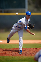 Seton Hall Pirates starting pitcher Chris Morris (45) delivers a pitch during a game against the Indiana Hoosiers on March 5, 2016 at North Charlotte Regional Park in Port Charlotte, Florida.  Seton Hall defeated Indiana 6-4.  (Mike Janes/Four Seam Images)