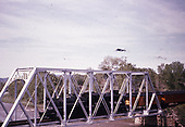 D&amp;RGW Rocky Mountain Railroad Club excursion train crossing steel truss bridge.<br /> D&amp;RGW