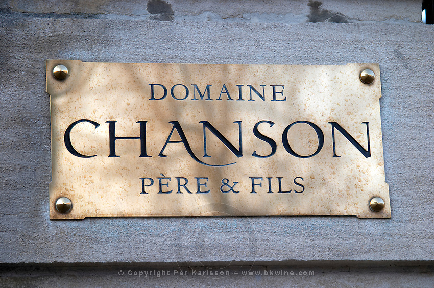domaine chanson brass sign beaune cote de beaune burgundy france