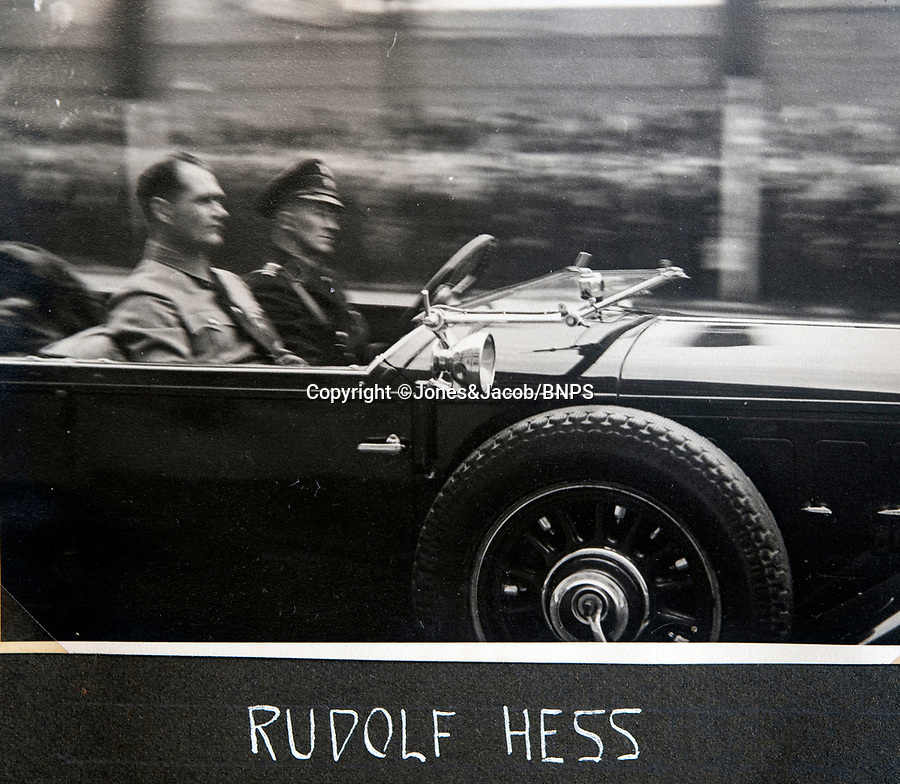 BNPS.co.uk (01202 558833)<br /> Pic: Jones&Jacob/BNPS<br /> <br /> Rare photograph of Rudolf Hess at another rally.<br /> <br /> Springtime for Hitler...Chilling album of pictures taken by one of Hitlers bodyguards illustrates the Nazi dictators rise to power.<br /> <br /> An unseen album of photographs taken by a member of Hitlers own elite SS bodyguard division in the years leading up to the start of WW2.<br /> <br /> The 1st SS Panzer Division 'Leibstandarte SS Adolf Hitler' or LSSAH began as Adolf Hitler's personal bodyguard in the 1920's responsible for guarding the Führer's 'person, offices, and residences'.