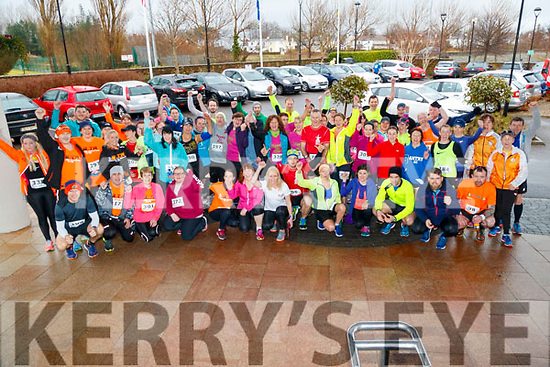Some of the runners who took part in the Optimal Fitness 10 miler and 5k road race, at The Rose Hotel, Tralee, on Sunday morning last.