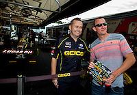 May 17, 2014; Commerce, GA, USA; NHRA top fuel dragster Richie Crampton during qualifying for the Southern Nationals at Atlanta Dragway. Mandatory Credit: Mark J. Rebilas-USA TODAY Sports