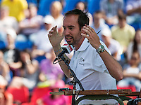 Moscow, Russia, 16 th July, 2016, Tennis,  Davis Cup Russia-Netherlands, Doubles : Chair Umpire<br /> Photo: Henk Koster/tennisimages.com
