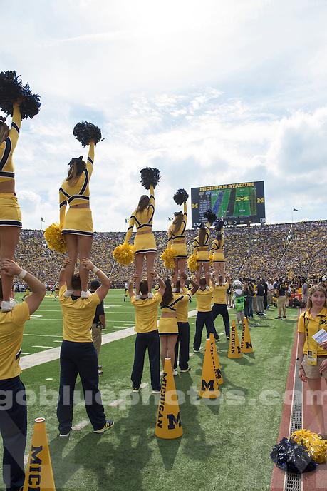 The University of Michigan football team defeats BYU, 31-0, at Michigan Stadium in Ann Arbor on Sept. 26, 2015.
