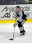 7 February 2009: Providence College Friars' defenseman Daniel New, a Freshman from White Plains, N.Y., in action against the University of Vermont Catamounts during the second game of a weekend series at Gutterson Fieldhouse in Burlington, Vermont. The Catamounts swept the 2-game series notching 4-1 wins in both games. Mandatory Photo Credit: Ed Wolfstein Photo