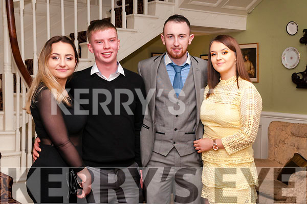 Ballydonoghue GAA Social@ Pictured at the Ballydonoghue GAA club social at the Listowel Arms Hotel on Saturday night last were Ola Landziak, John Scully, Padraigh Kennelly & Stacey Meaney/